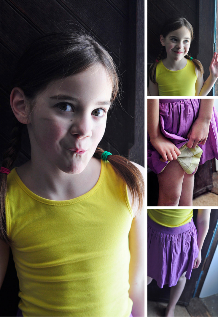 5282024c7 A great new line of kids clothes called Primary. So well-made. Classic  looks and everything is under $25. Tunic in Sunshine and Reversible twirly  in lilac ...
