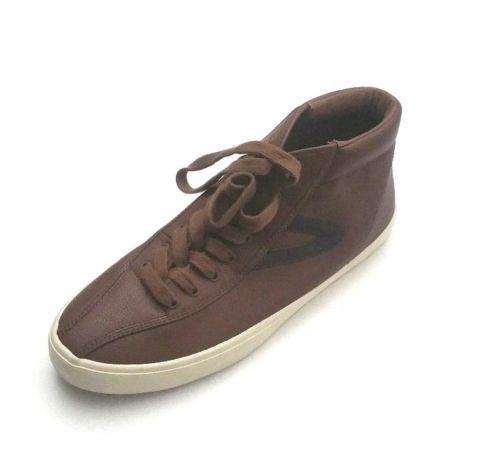 bb9441e3442f Tretorn Men s MTTEDDYHI5-R Mid Top Teddy Leather Shoes Brown Size 10 ...