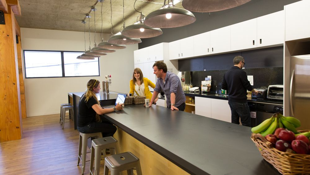 hootsuite office - kitchen | open office, meeting rooms and kitchens