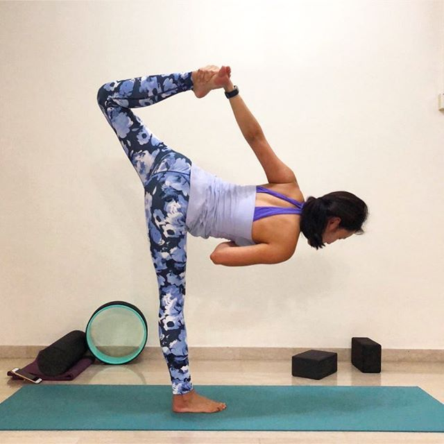 Standing balance pose with no hands sugarcane variation # ...