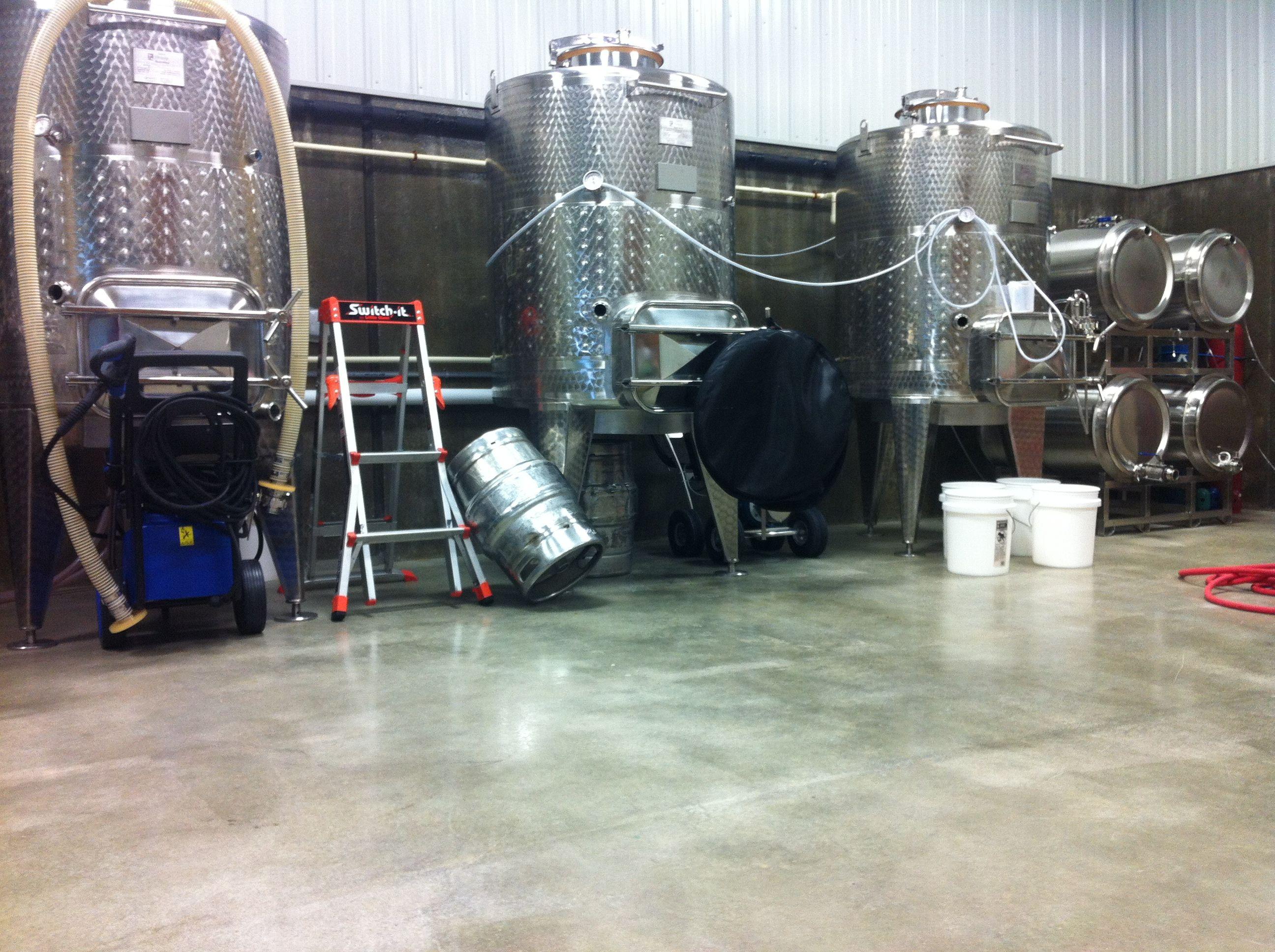 An Industrial Grade Clear Epoxy Sealer On A Bare Concrete Floor In A Local Wine Press Concrete Floors Commercial Flooring Epoxy Sealer