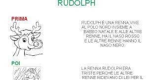 Risultati Immagini Per Storia Della Renna Dal Naso Rosso Con Schede
