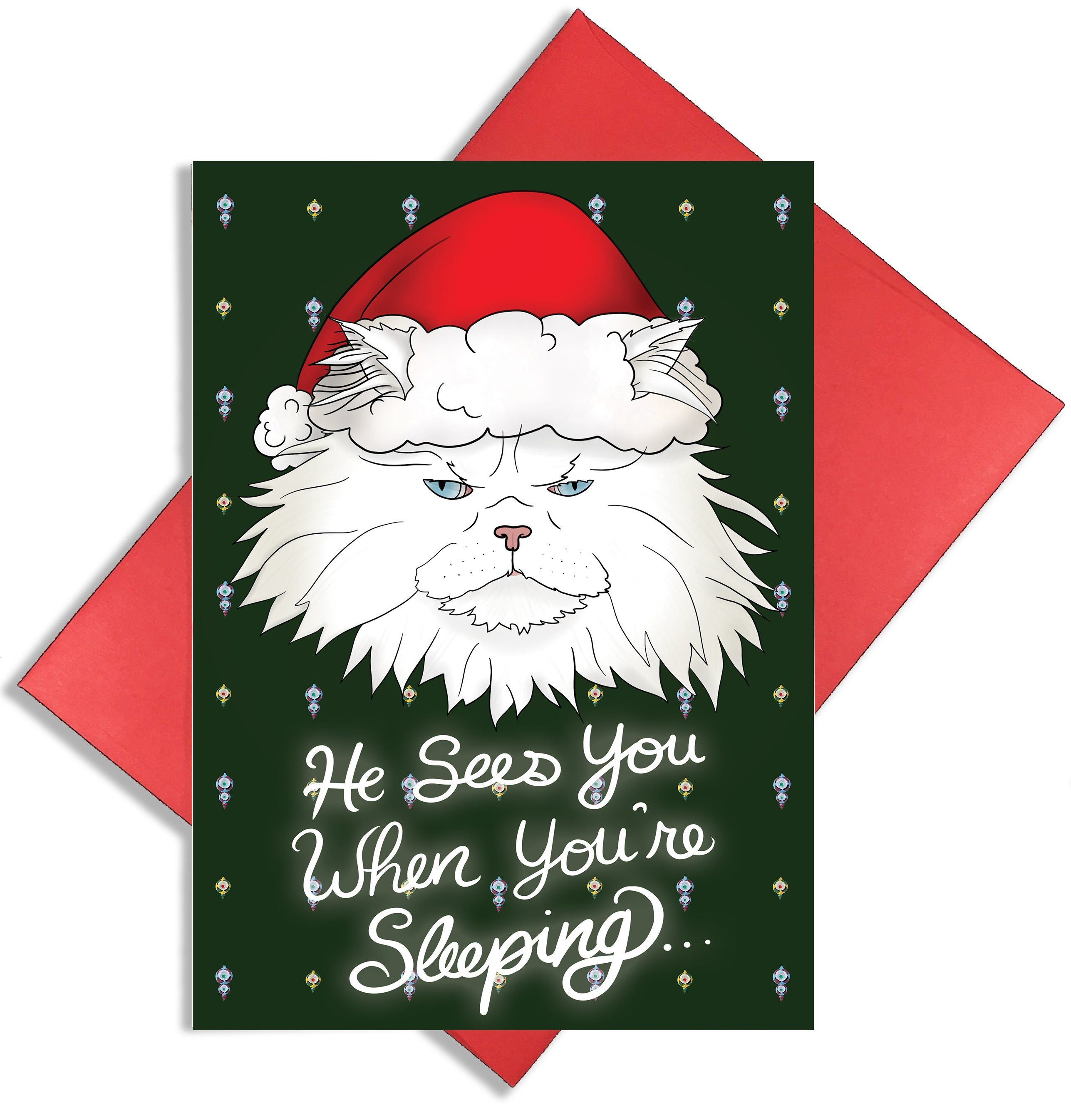 "Santa Kec ""He Sees You When You're Sleeping"" Christmas"