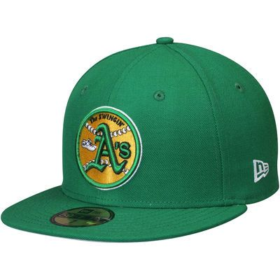 4c62f40c60136 Men s New Era Green Oakland Athletics Cooperstown Collection Wool Standard  2 59FIFTY Fitted Hat