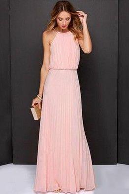 Vestidos rosas largos casuales