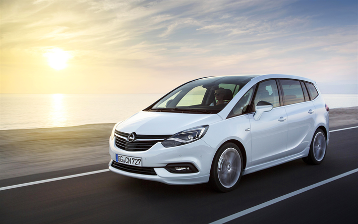 Download Wallpapers Opel Zafira 4k 2018 Cars Compact Vans New Zafira Opel Besthqwallpapers Com Opel Meriva Opel Vauxhall