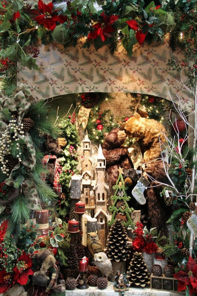 enchanted forest christmas tree decorating ideas christmsas woodland woodland christmas display