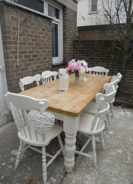 15 Trendy Farmhouse Table Pine Shabby Chic farmhouse is part of Shabby chic dining tables -