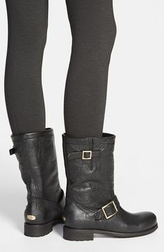 518a855a5d6 Jimmy Choo motorcycle boots. Looks great with leggings. Moto Boots