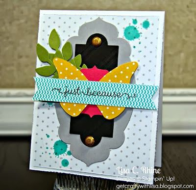 wwww.getcraftywithlisa.com:  My TOP 10 Favorite Projects of 2013:  #6.  Just Because Card (September 2013)