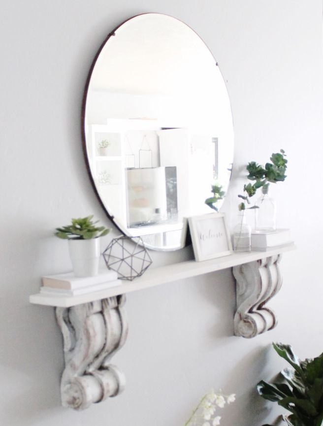A Small Entryway Makeover Diy Corbel Shelf May Me And Mom