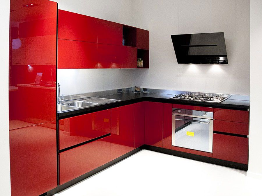 30 Modelli di Cucine Rosse dal Design Moderno  Cucine  Design Kitchen Cabinets e Residential