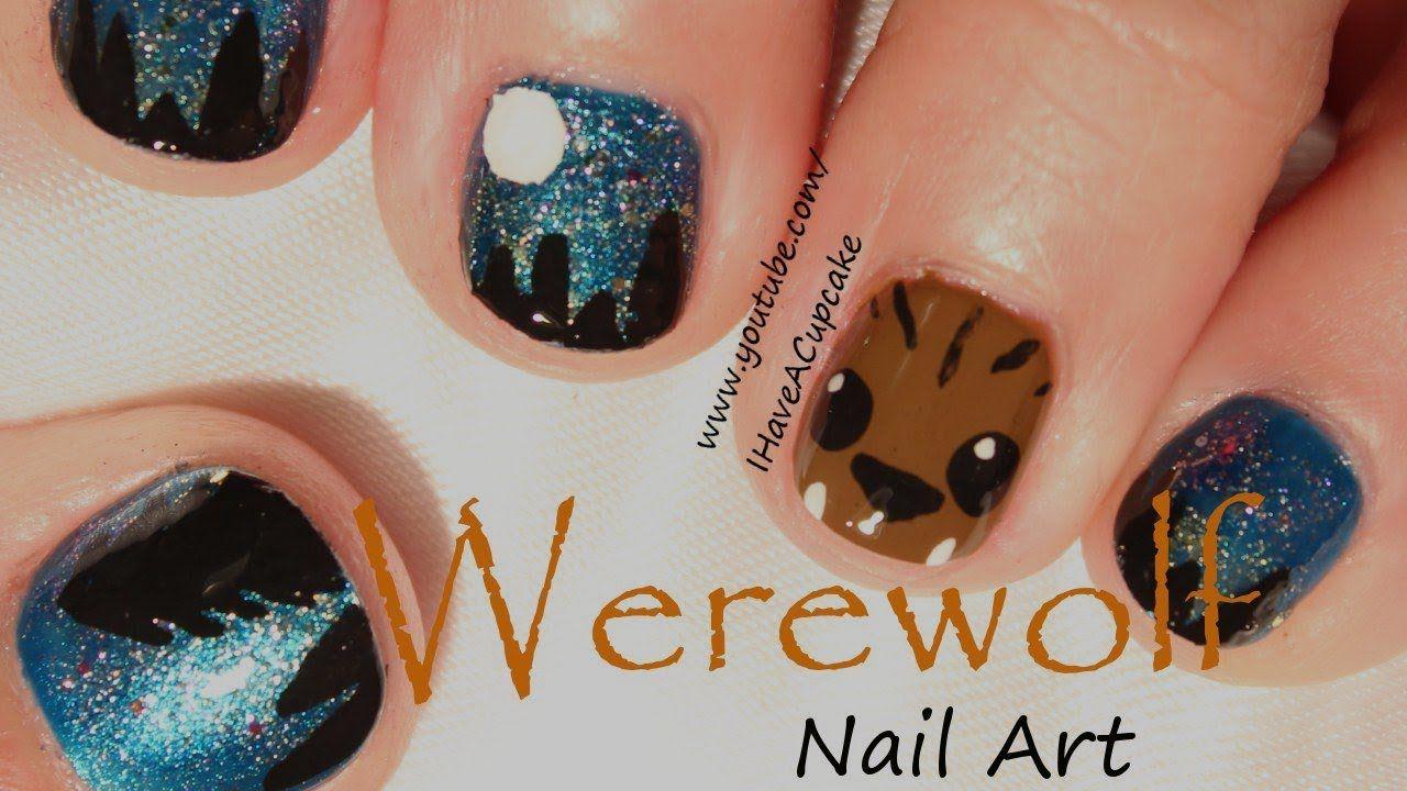 Werewolf Halloween Nail Art Nails Pinterest Nail Art Videos