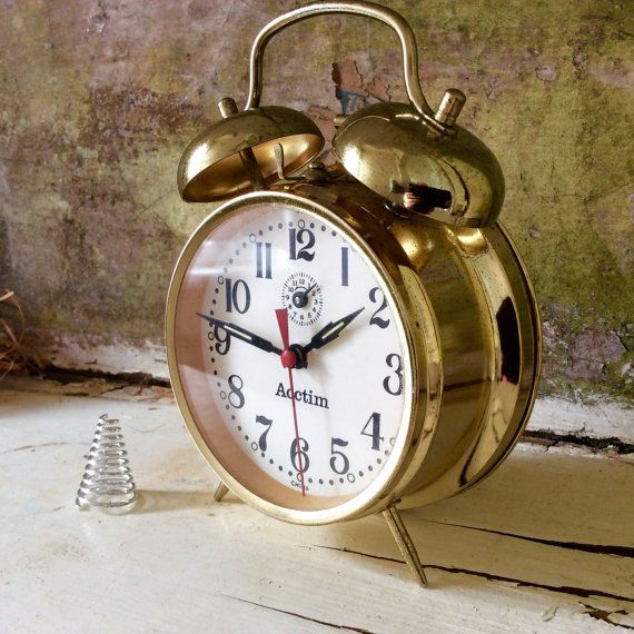 This Antique Brass Vintage Alarm Clock