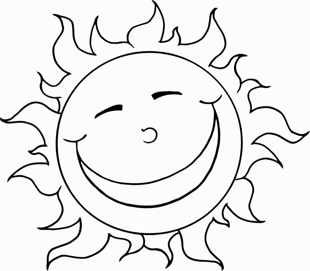 Coloring Page The Sun
