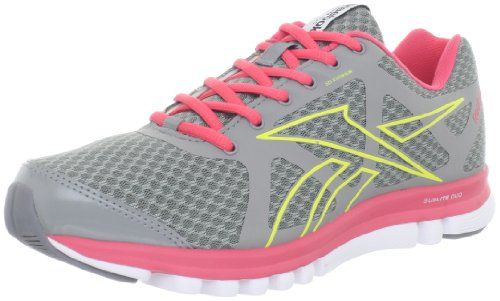 935e69078271 Reebok Womens Reebok SubLite Duo Run Running Shoe GreyCoralWhiteGreen 6 M  US    You can find out more details at the link of the image.