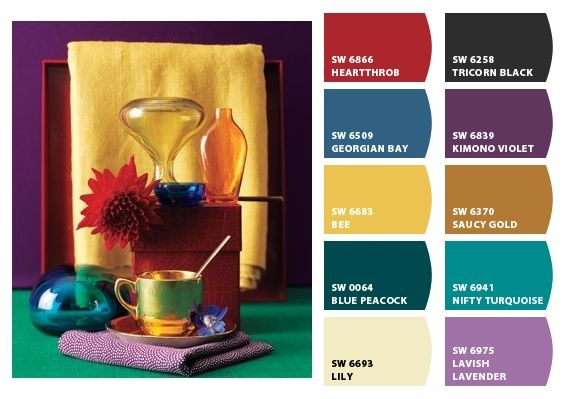 Lovely jewel tones paint chips from sherwin williams - Jewel tones color palette ...