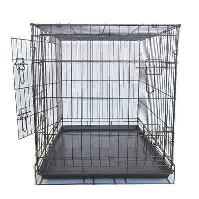 """YML Double Door Pet Crate Size: 36"""" (26"""" H x 23"""" W x 36"""" L)"""