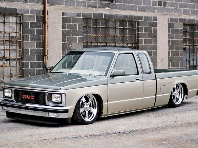 hot sale online af152 fe42c Extended cab two tone Chevy S10, Chevy Chevrolet, Bagged Trucks, Mini  Trucks,