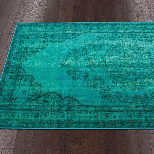 Nuloom Remade Distressed Overdyed Turquoise Area Rug Turquoise