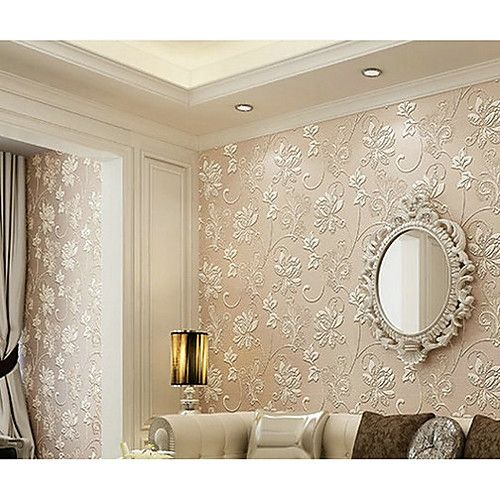 Home Design 3d Gold: Floral 3D Home Decoration Contemporary Wall Covering, Non