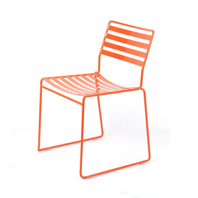 Modern furniture wire dining chair outdoor use stackable metal chair ...