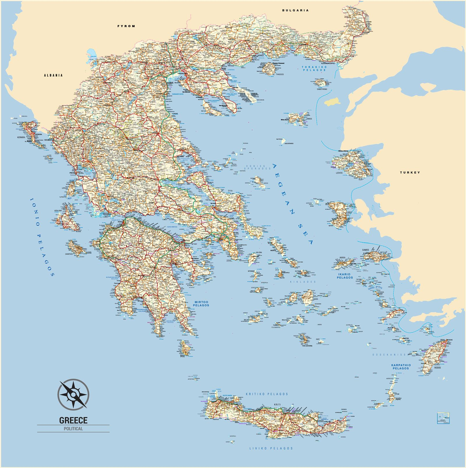 Greece Wall Map With Images Greece Map Wall Maps Map