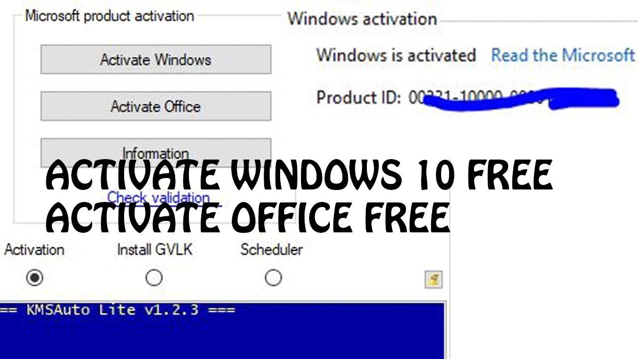 Activate Windows 10 And Office Free For Lifetime Office
