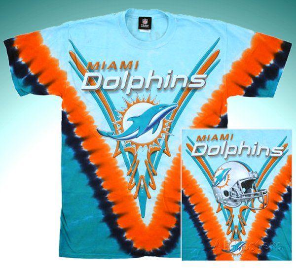 NFL Miami Dolphins Logo Tie Dye T-shirt  ca703e4b6