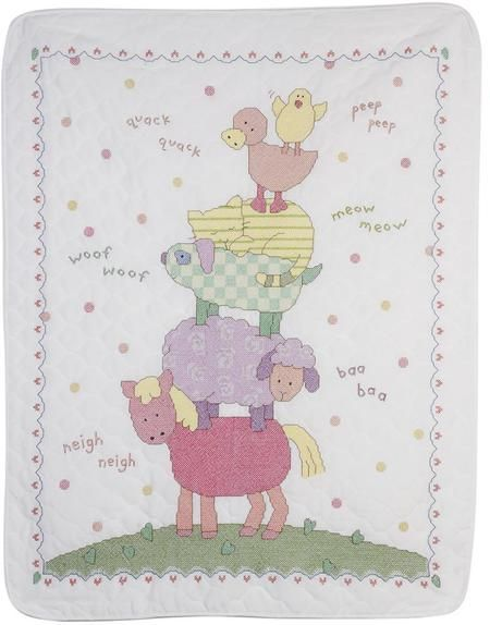 Bucilla 47730 Farm Animals Crib Cover
