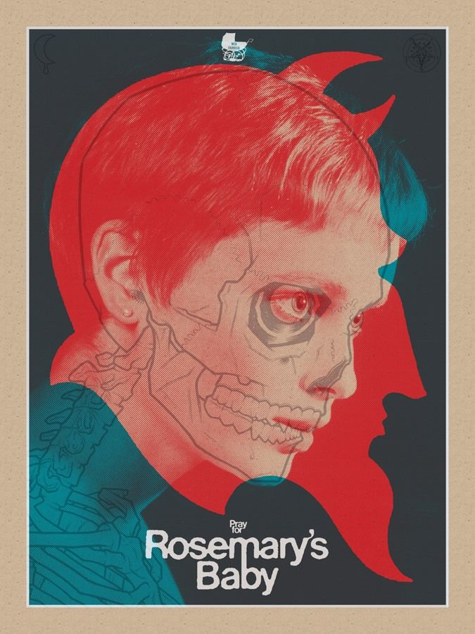Image result for fan made movie poster rosemarys baby