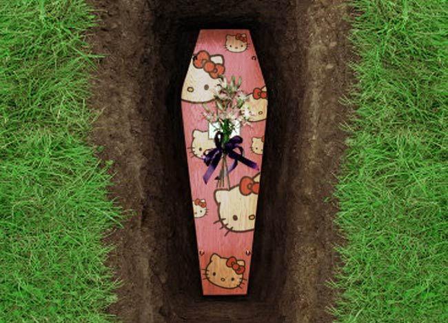 hello kitty coffin