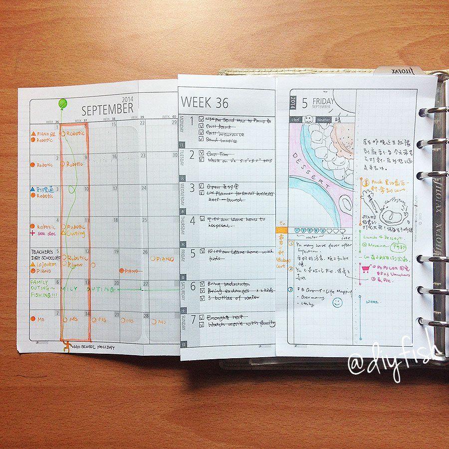 Diy Calendar Agenda : Diy fish planner inserts are the best addict
