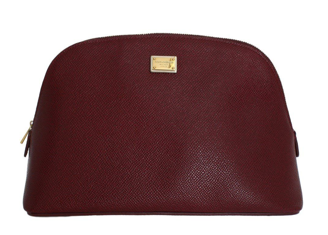 19c624d6ad Bordeaux Leather Cosmetic Toiletry Bag - Your Wishlist