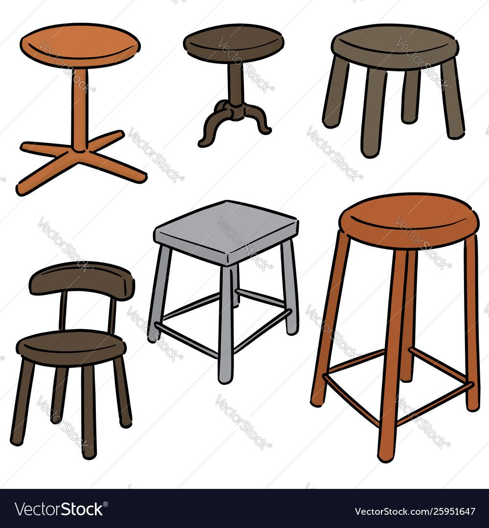 Set Chair Vector Image On Vectorstock Vector Digital Painting Portrait Cartoon Background