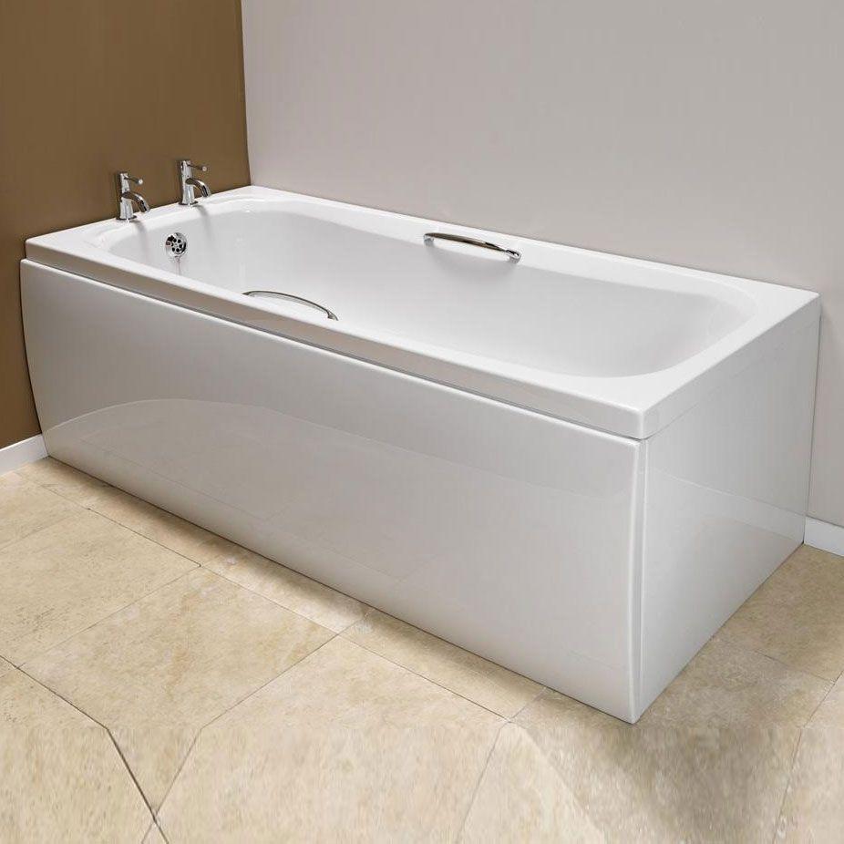 Carron Swallow Rectangular Bath with Grips, 1700mm x 700mm, 8mm Acrylic
