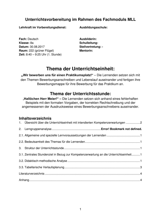 Unterrichtsbesuch Rechtschreibung Lebenslauf Unterrichtsmaterial Im Fach Deutsch Lebenslauf Schulleitung Rechtschreibung