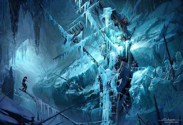 Title Ice Ship Tomb Rise Of The Tomb Raider Concept Art Artist
