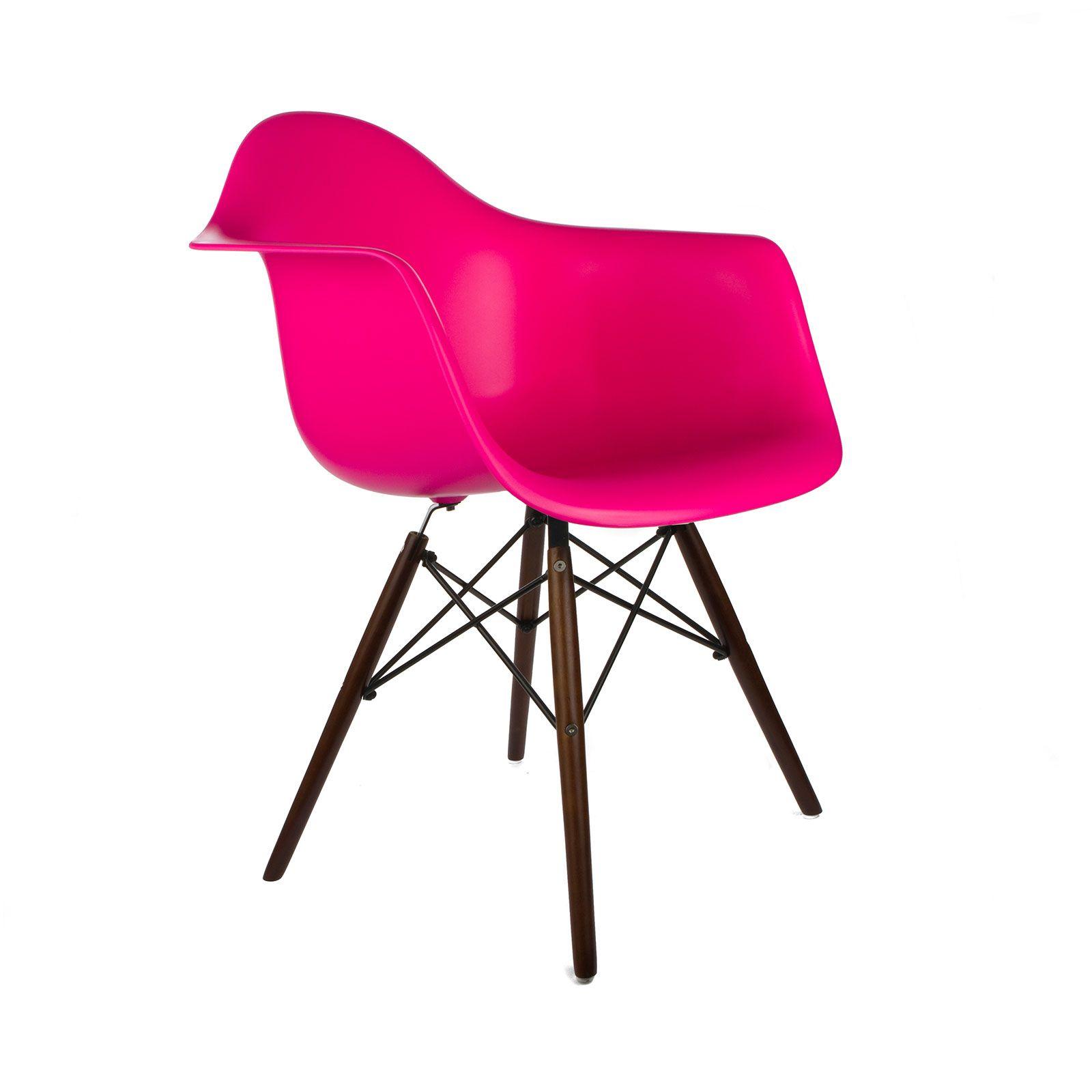 Walnut Montmartre Arm Chair in Fuchsia | dotandbo.com