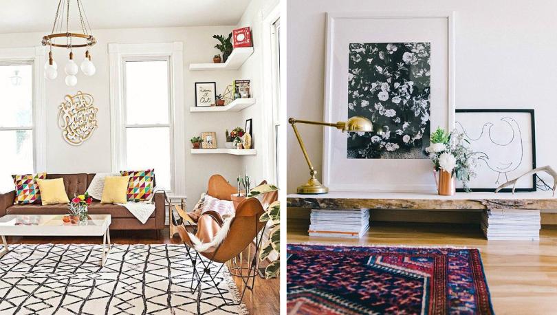 decoracin alfombras saln
