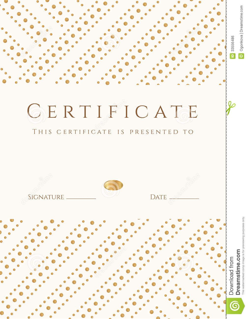 certificate-diploma-template-gold-award-pattern-completion ...