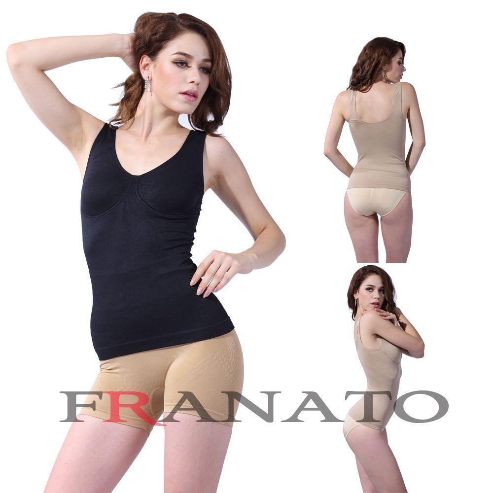 6b1493d13b Women S Underwire Shapewear Tank Top Seamless Cami Slimming Camisole Body  Shaper