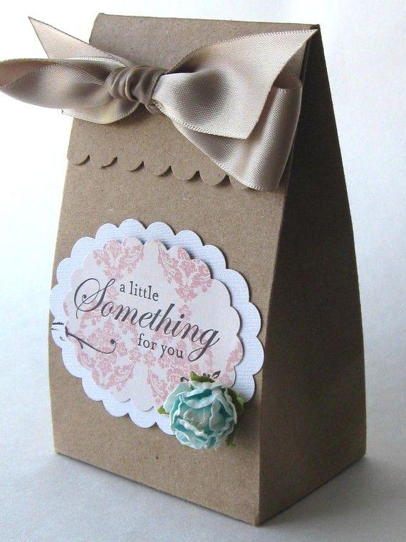 Items similar to Elegant Wedding Birthday Party Favor Box - Kraft on Etsy