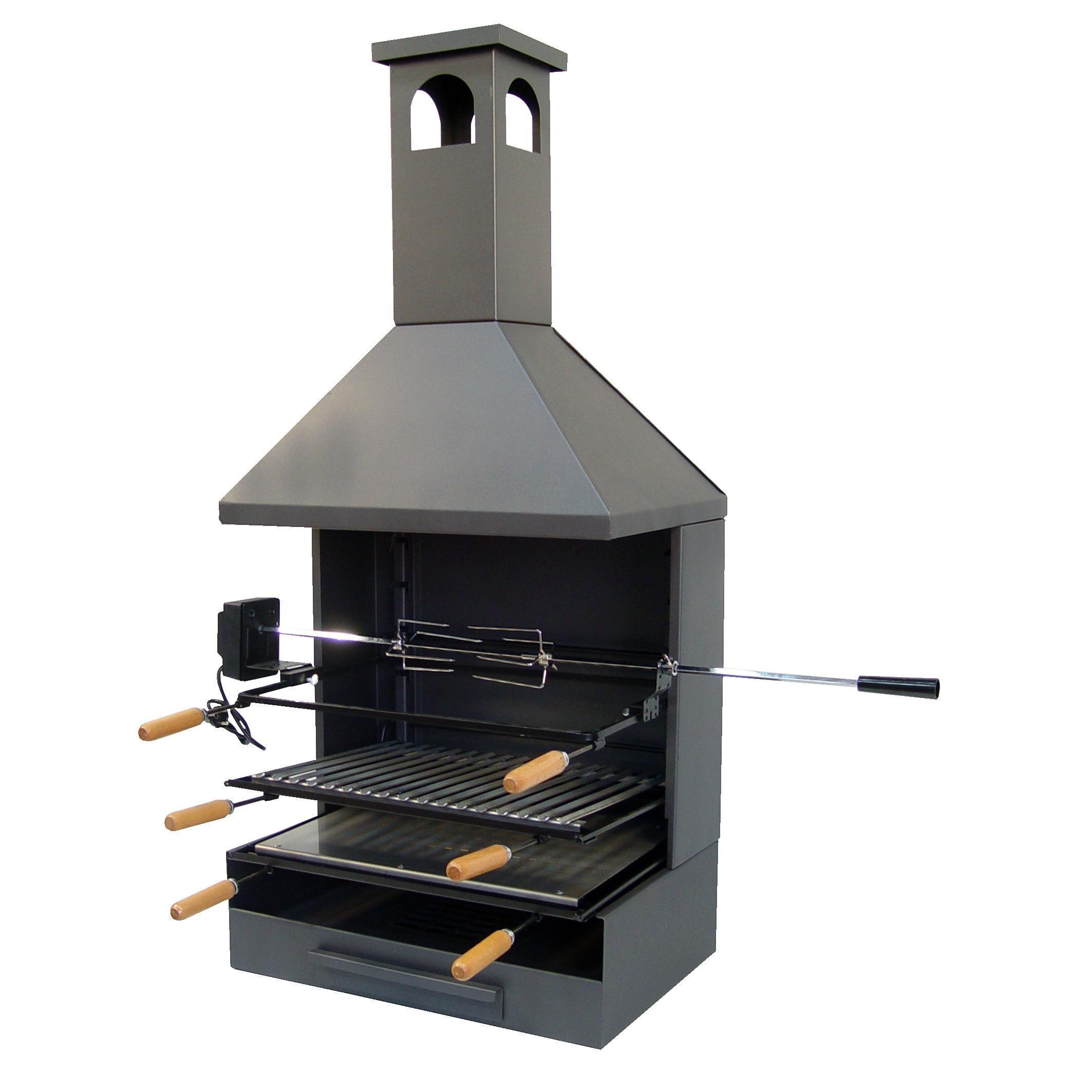 Barbecue avec bac  cendre et cheminée pl¨te par 355 25 € sur
