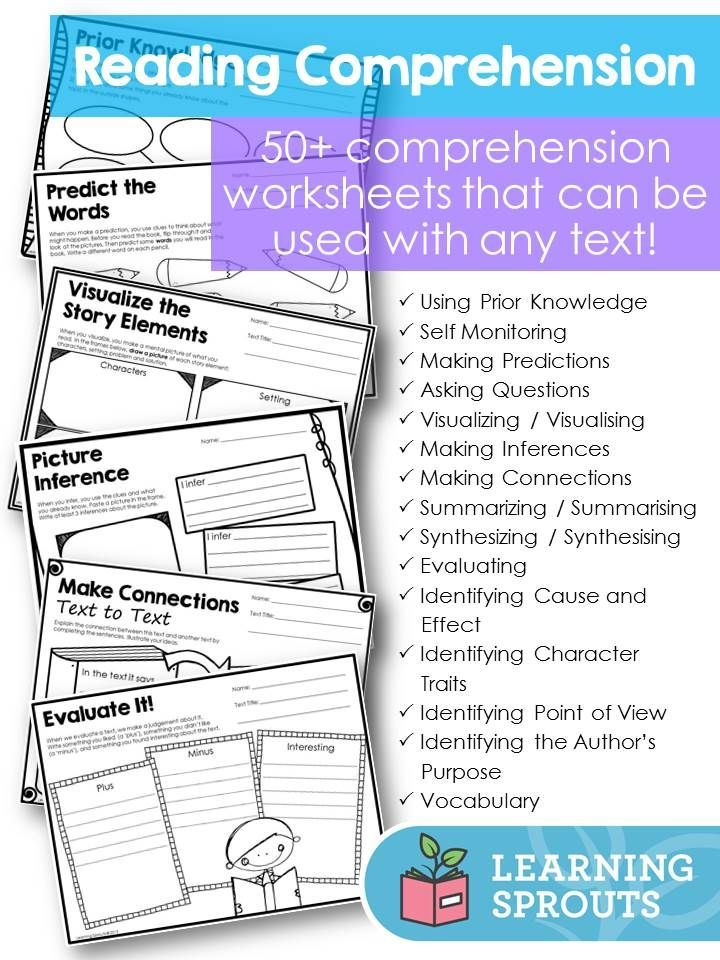 Reading prehension Worksheets and Graphic Organizers to Use with