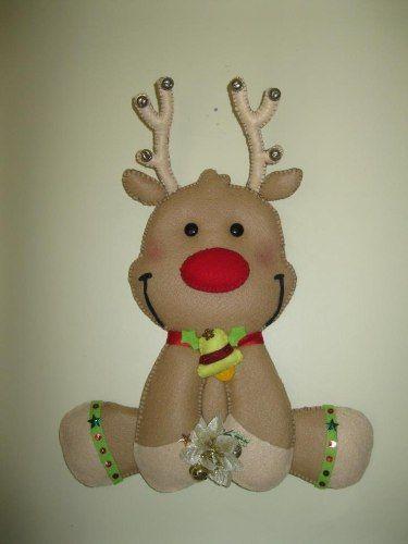 Reno navide o navidad navidad moldes para navidad y for Manualidades renos navidenos