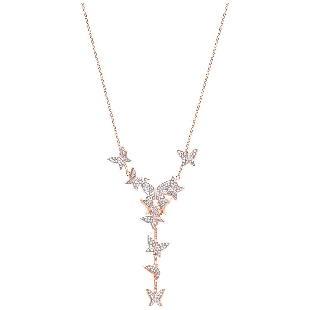 d3dabe8f26f8b Swarovski Lilia Y Necklace, White, Rose gold plating, 5480512 in ...
