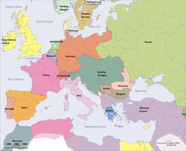 Europe In 1900 Europe Map Historical Maps Map