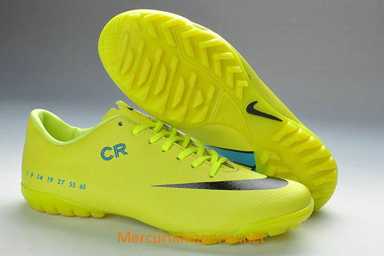 Nike Mercurial CR7 Vapor IX TF Soccer Cleats Fluorescent Green Black