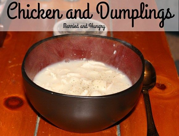 The best ever chicken and dumplings.